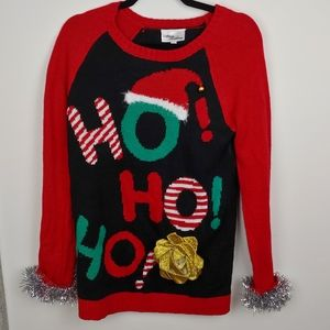 Red and black Ugly Christmas Sweater